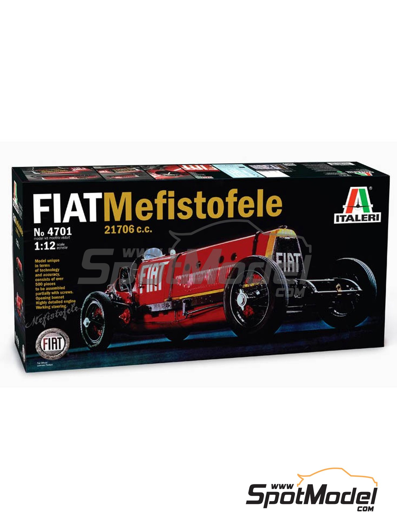 Fiat Mefistofele - World Landspeed Record 1924 | Model car kit in 1/12 scale manufactured by Italeri (ref. 4701) image