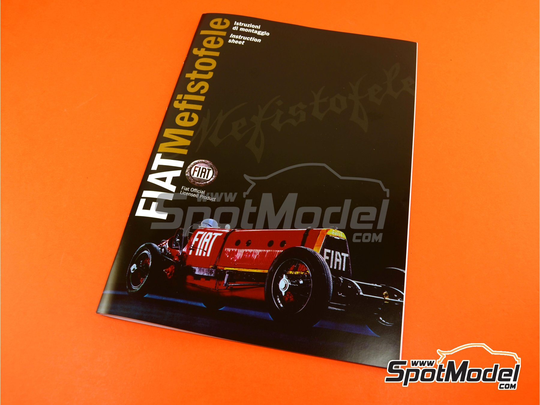 Image 22: Fiat Mefistofele - World Landspeed Record 1924 | Model car kit in 1/12 scale manufactured by Italeri (ref. 4701)