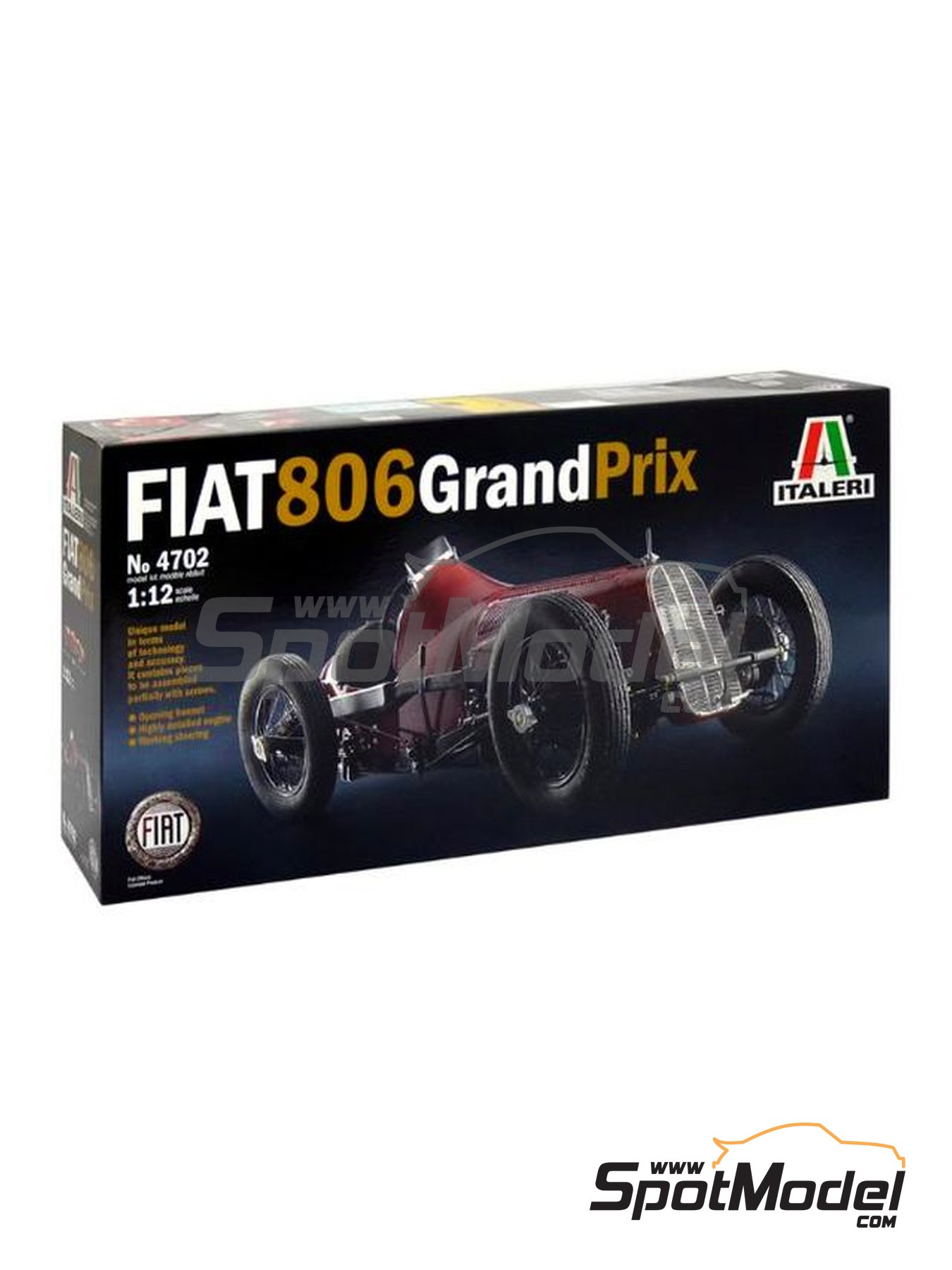 Fiat 806 Grand Prix - Milano Grand Prix 1927 | Model car kit in 1/12 scale manufactured by Italeri (ref. 4702) image