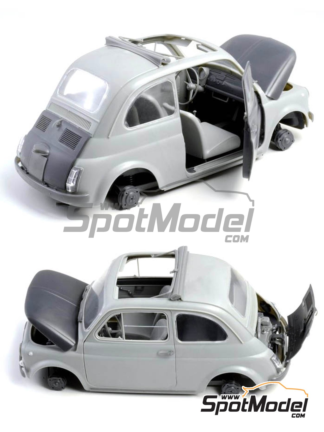 Fiat 500 F | Model car kit in 1/12 scale manufactured by Italeri (ref. 4703) image