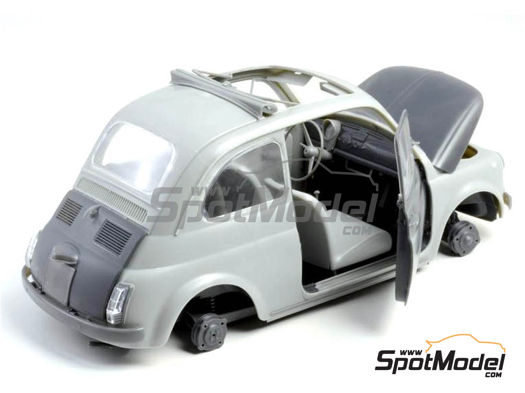 Image 5: Fiat 500 F | Model car kit in 1/12 scale manufactured by Italeri (ref. 4703)