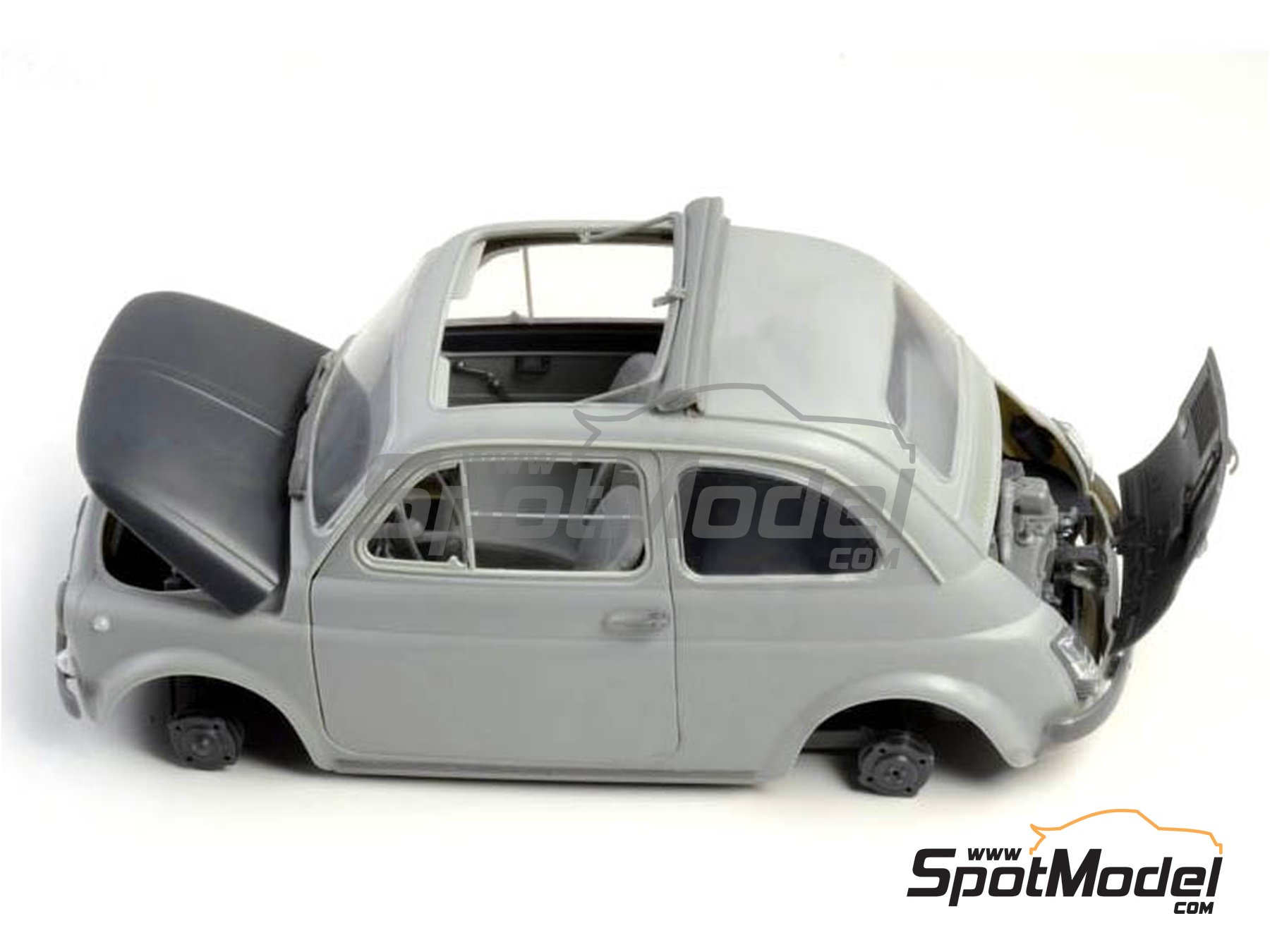Image 7: Fiat 500 F | Model car kit in 1/12 scale manufactured by Italeri (ref. 4703)