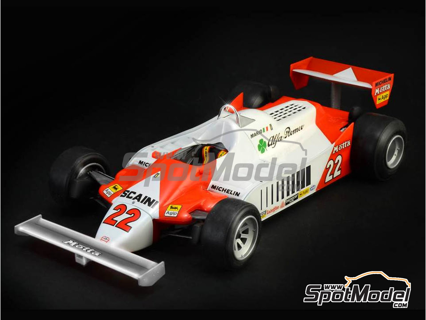 Image 1: Alfa Romeo 179 and 179C Marlboro - FIA Formula 1 World Championship 1979, 1980 and 1981 | Model car kit in 1/12 scale manufactured by Italeri (ref. 4704)