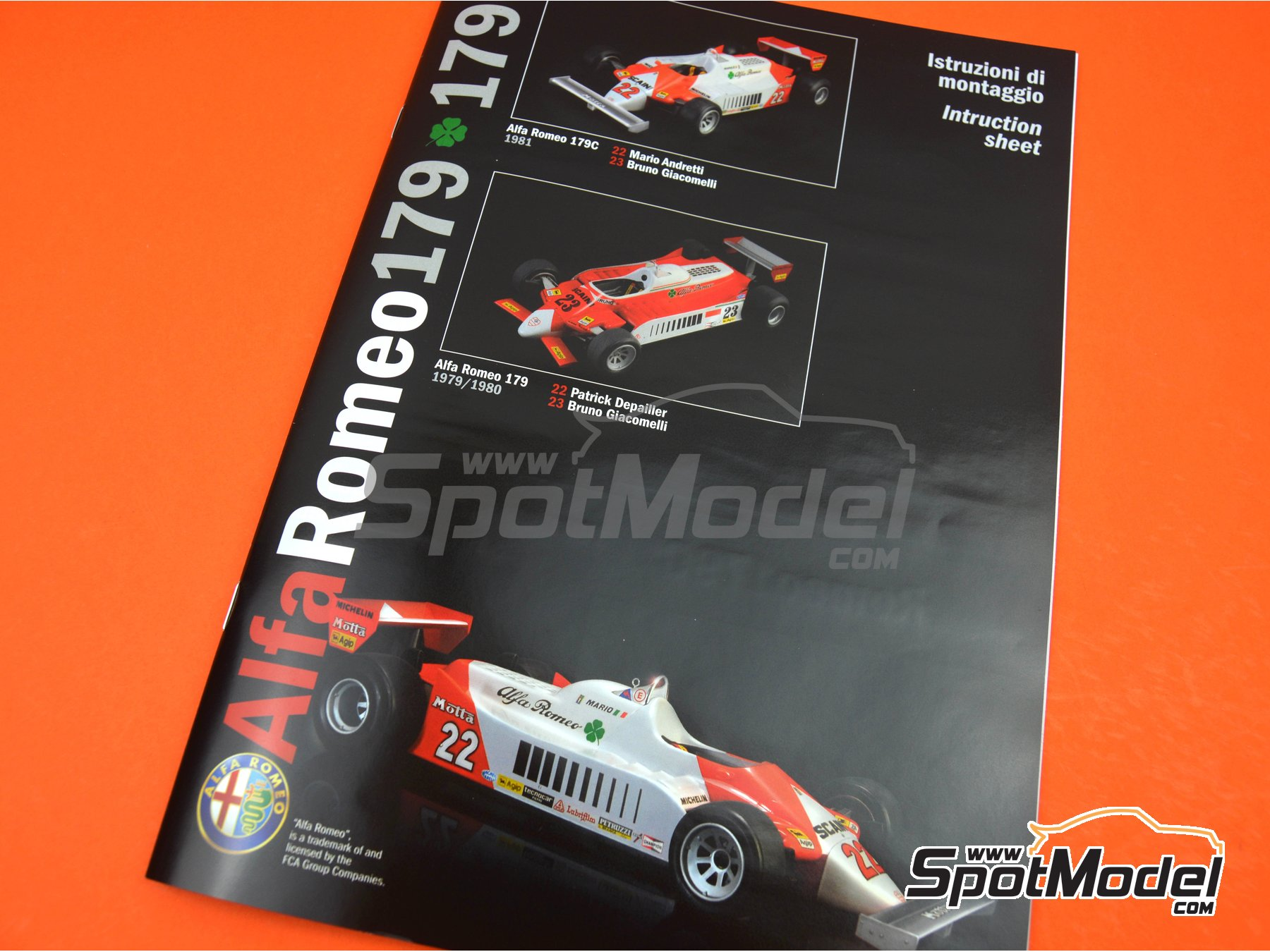 Image 6: Alfa Romeo 179 and 179C Marlboro - FIA Formula 1 World Championship 1979, 1980 and 1981 | Model car kit in 1/12 scale manufactured by Italeri (ref. 4704)
