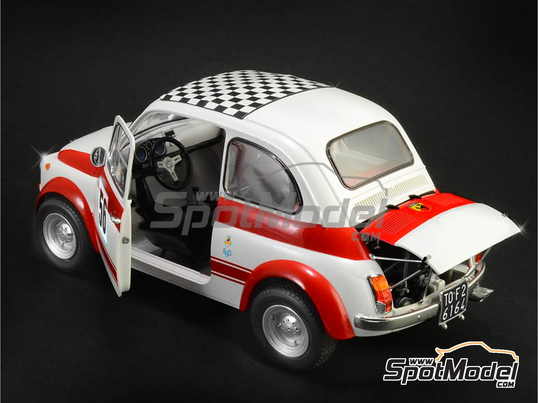 Image 1: Fiat Abarth 695 SS Assetto Corsa | Model car kit in 1/12 scale manufactured by Italeri (ref. 4705, also ITA4705 and IT4705)