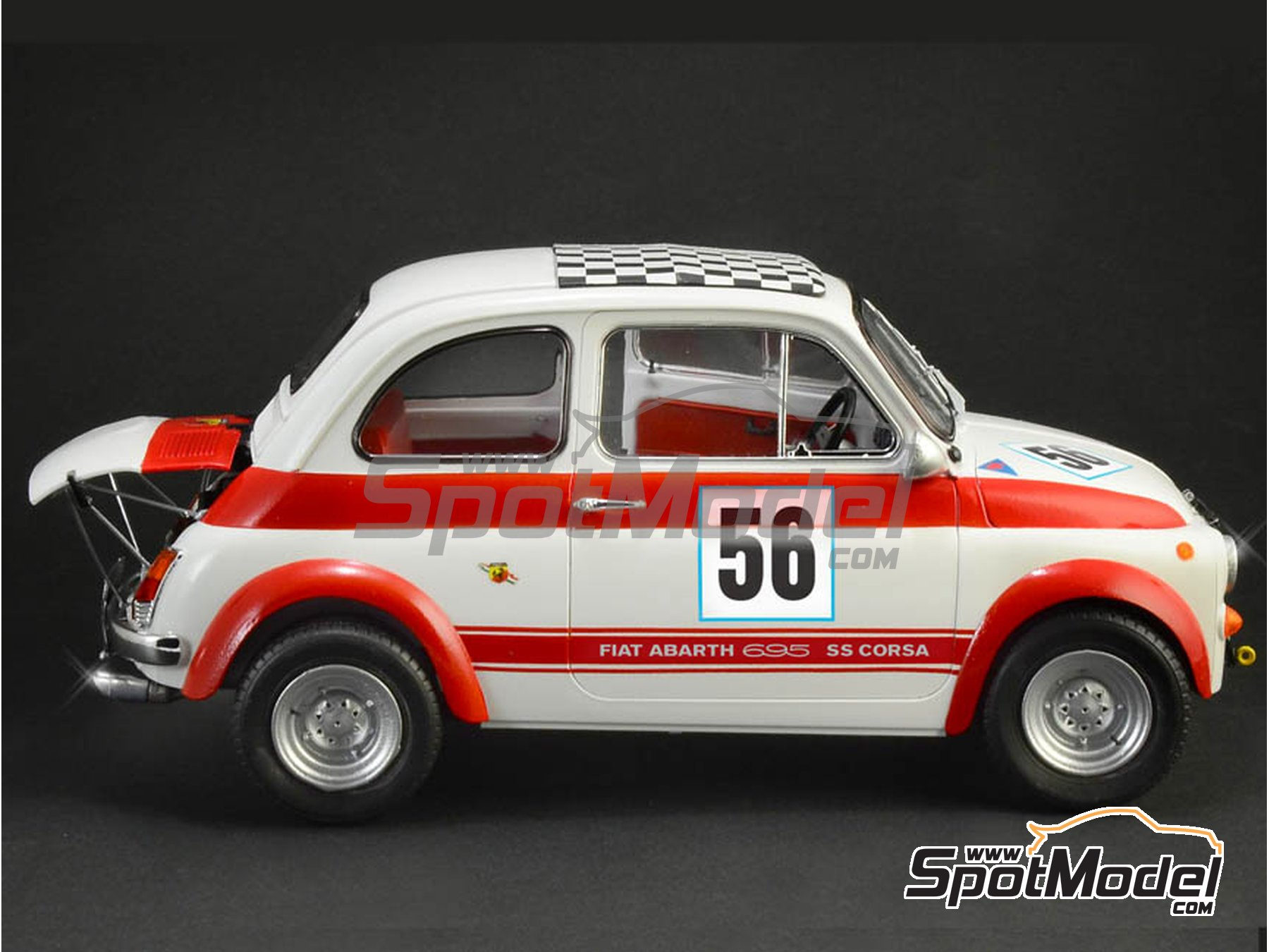Image 2: Fiat Abarth 695 SS Assetto Corsa | Model car kit in 1/12 scale manufactured by Italeri (ref. 4705, also ITA4705 and IT4705)