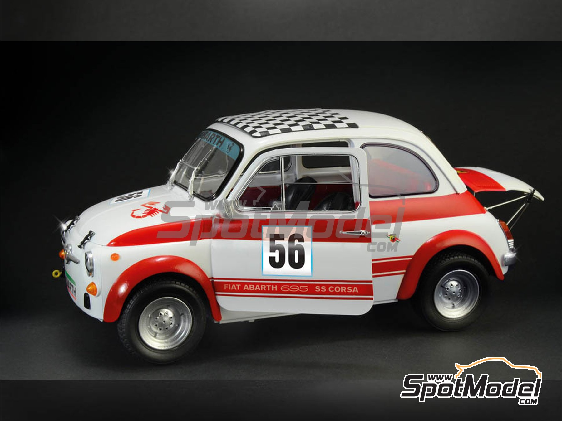 Image 5: Fiat Abarth 695 SS Assetto Corsa | Model car kit in 1/12 scale manufactured by Italeri (ref. 4705, also ITA4705 and IT4705)