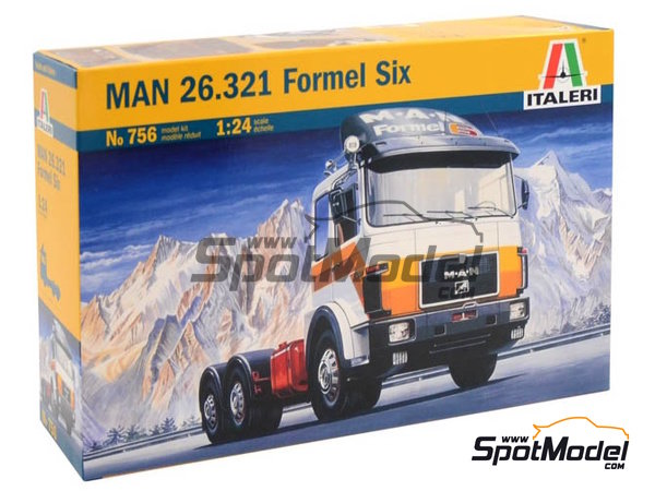 Image 2: Man 26.321 Formel six | Model truck kit in 1/24 scale manufactured by Italeri (ref. 756)