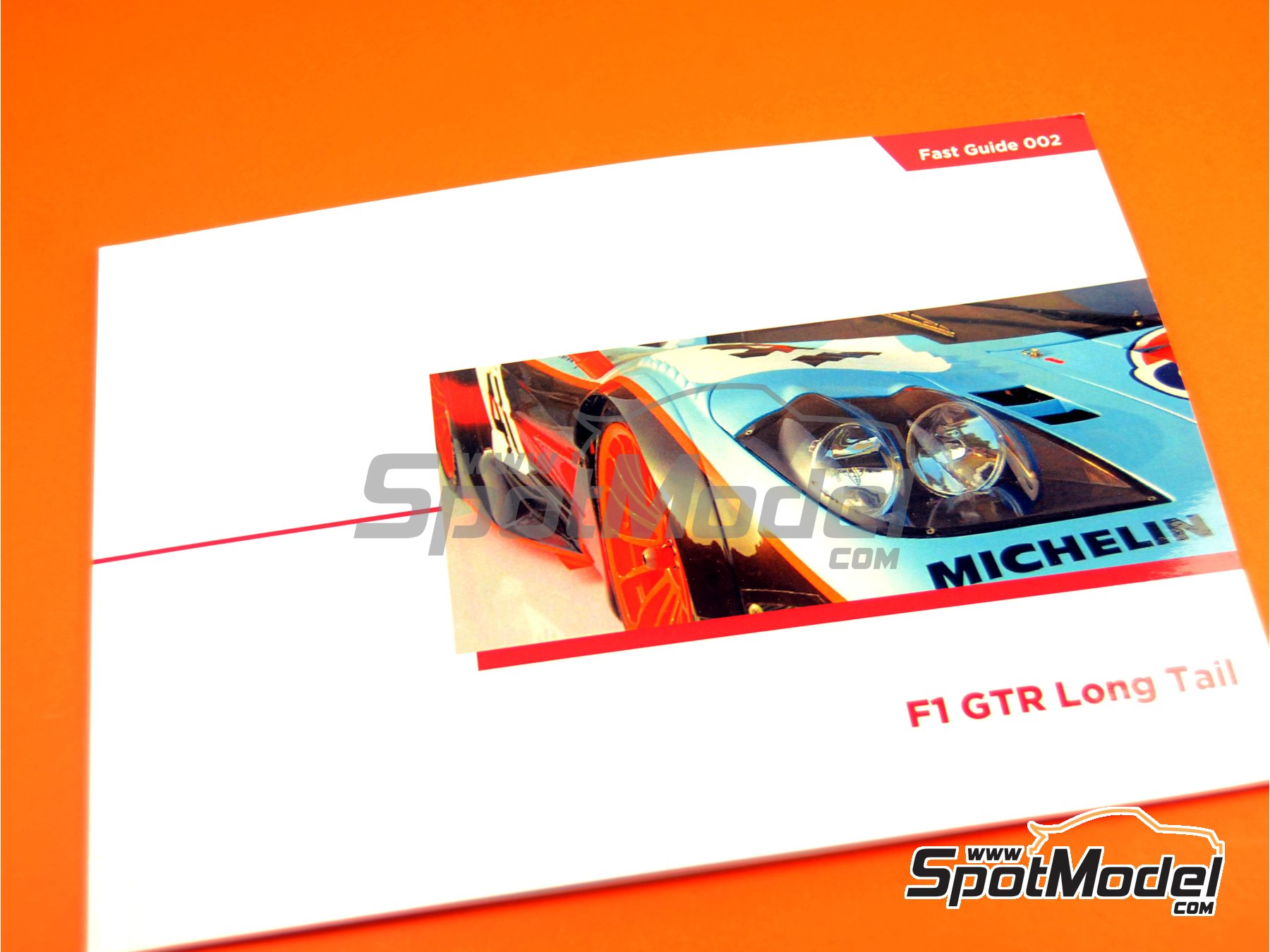 Image 1: McLaren F1 GTR Long Tail | Reference / walkaround book manufactured by Komakai (ref. KOM-FG002)