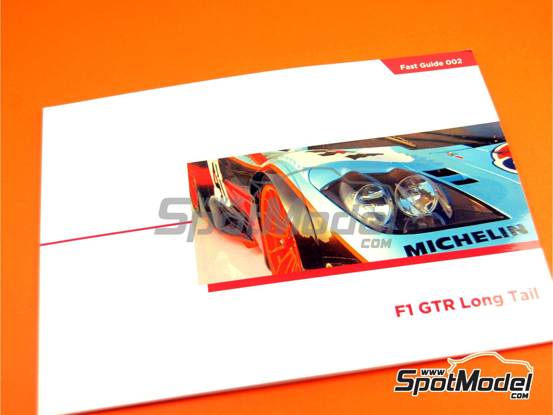 Image 1: McLaren F1 GTR Long Tail | Reference / walkaround book manufactured by Komakai (ref.KOM-FG002)