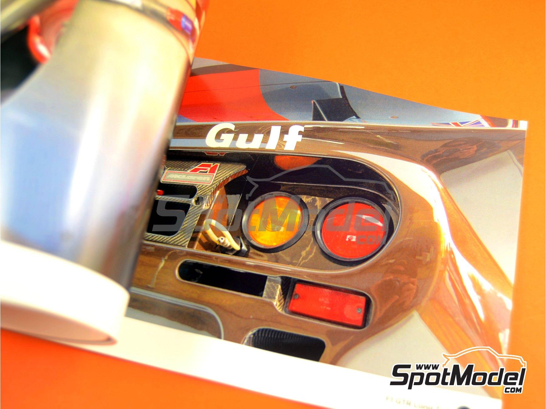 Image 3: McLaren F1 GTR Long Tail | Reference / walkaround book manufactured by Komakai (ref.KOM-FG002)