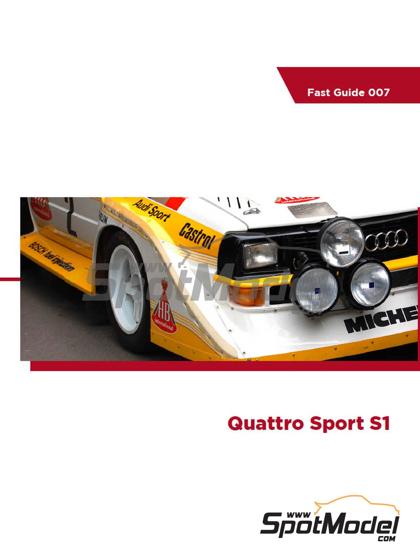 Audi Quattro Sport S1 | Reference / walkaround book manufactured by Komakai (ref.KOM-FG007) image