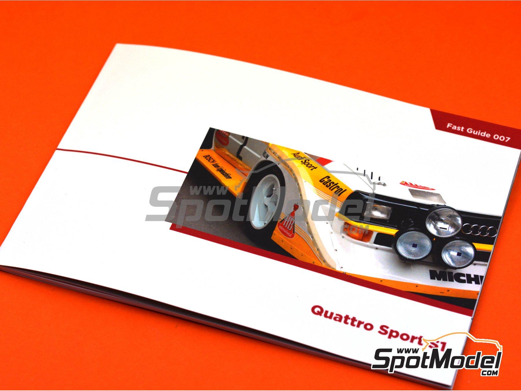 Image 4: Audi Quattro Sport S1 | Reference / walkaround book manufactured by Komakai (ref.KOM-FG007)