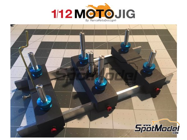 Image 1: MotoJig 2017 Anodized | Tools in 1/12 scale manufactured by Marco Moto Design (ref. MOTOJIG-LE)