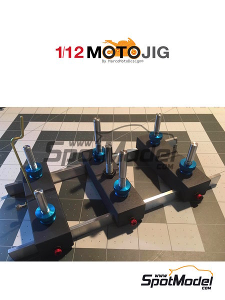 MotoJig 2017 Anodized | Tools in 1/12 scale manufactured by Marco Moto Design (ref. MOTOJIG2017ANODIZED) image
