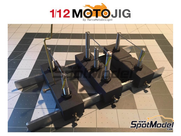 Image 1: MotoJig 2017 Basic | Herramientas en escala1/12 fabricado por Marco Moto Design (ref.MOTOJIG2017BASIC)