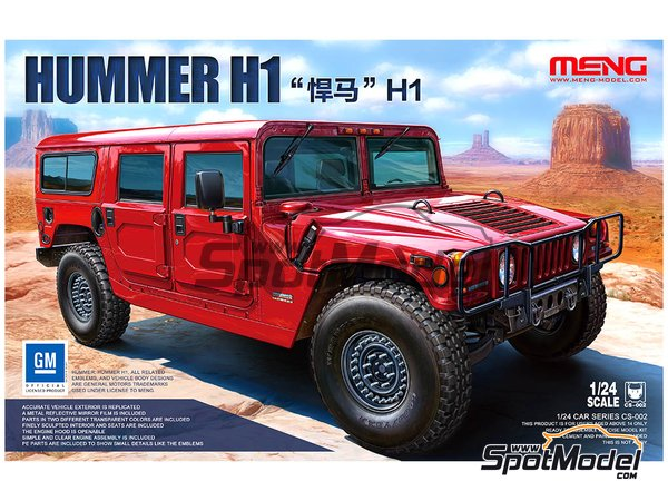 Image 1: Hummer H1 | Model car kit in 1/24 scale manufactured by Meng Model (ref. CS-002)