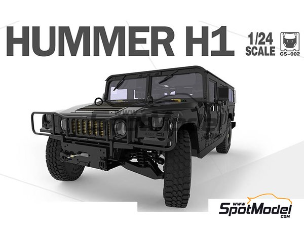 Image 2: Hummer H1 | Model car kit in 1/24 scale manufactured by Meng Model (ref. CS-002)