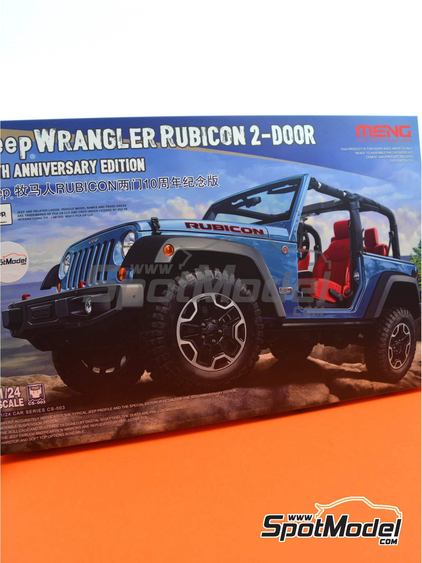 Jeep Wrangler Rubicon | Model car kit in 1/24 scale manufactured by Meng Model (ref. CS-003) image