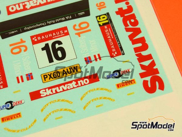 Image 1: Ford Fiesta WRC Skruvat.no - Rally de Suecia 2014 | Calcas de agua en escala1/24 fabricado por Mf-zone (ref.MFZ-DC2410)
