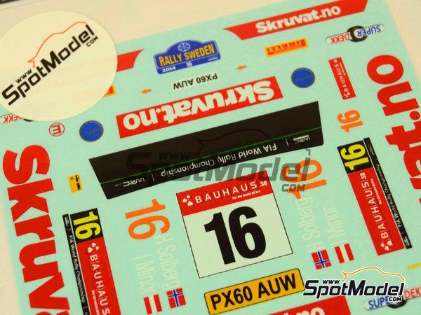 Image 2: Ford Fiesta WRC Skruvat.no - Rally de Suecia 2014 | Calcas de agua en escala1/24 fabricado por Mf-zone (ref.MFZ-DC2410)