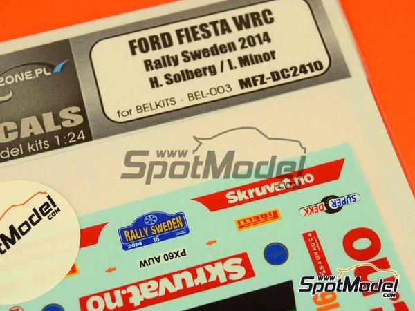 Image 3: Ford Fiesta WRC Skruvat.no - Rally de Suecia 2014 | Calcas de agua en escala1/24 fabricado por Mf-zone (ref.MFZ-DC2410)