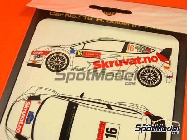 Image 6: Ford Fiesta WRC Skruvat.no - Rally de Suecia 2014 | Calcas de agua en escala1/24 fabricado por Mf-zone (ref.MFZ-DC2410)