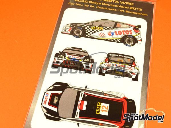Image 1: Ford Fiesta WRC Lotos - Rally de Alemania ADAC 2013 | Calcas de agua en escala1/24 fabricado por Mf-zone (ref.MFZ-DC2420)