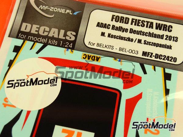 Image 5: Ford Fiesta WRC Lotos - Rally de Alemania ADAC 2013 | Calcas de agua en escala1/24 fabricado por Mf-zone (ref.MFZ-DC2420)