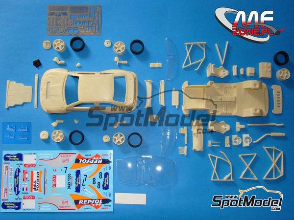 Image 3: Seat Cordoba EVO 3 WRC - Rally d'Italia Sardinia 2000 | Model car kit in 1/24 scale manufactured by Mf-zone (ref.MFZ-KIT241)
