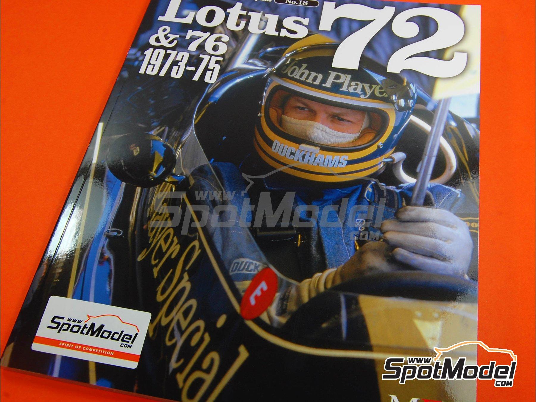 Image 1: JOE HONDA Racing Pictorial Series - Lotus 72 y 76 - Campeonato del Mundo de Formula1 1973, 1974 y 1975 | Libro de referencia fabricado por Model Factory Hiro (ref.MFH-JH18)