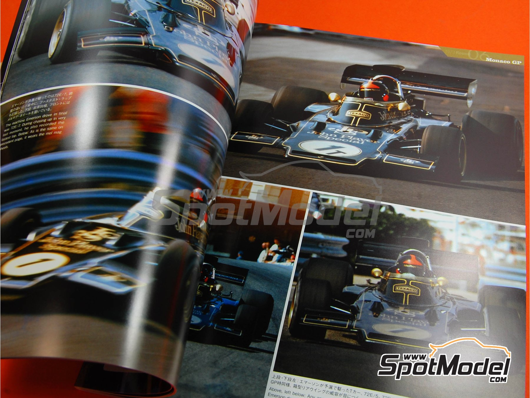 Image 3: JOE HONDA Racing Pictorial Series - Lotus 72 y 76 - Campeonato del Mundo de Formula1 1973, 1974 y 1975 | Libro de referencia fabricado por Model Factory Hiro (ref.MFH-JH18)