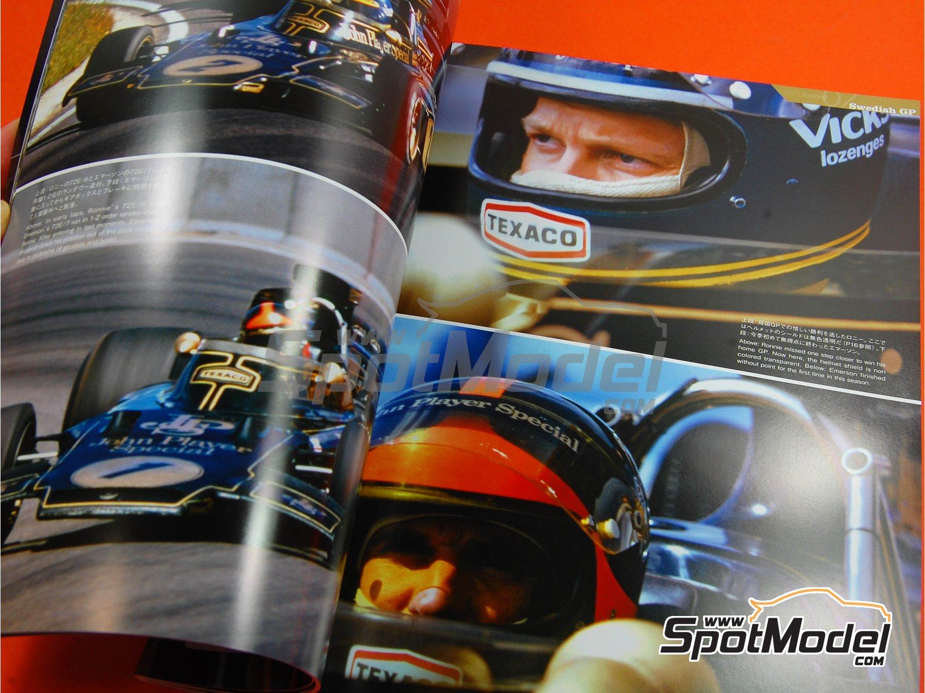 Image 4: JOE HONDA Racing Pictorial Series - Lotus 72 y 76 - Campeonato del Mundo de Formula1 1973, 1974 y 1975 | Libro de referencia fabricado por Model Factory Hiro (ref.MFH-JH18)