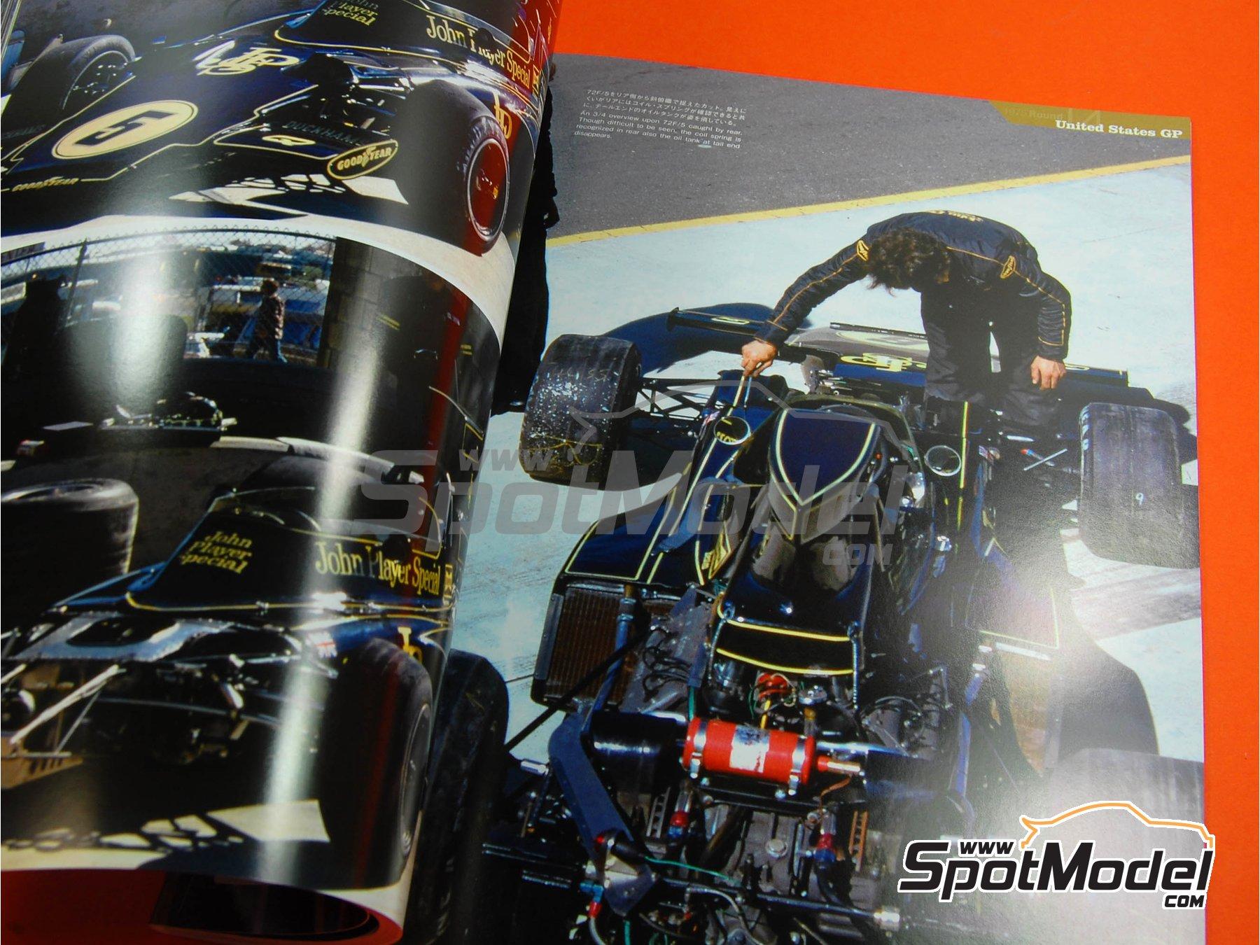 Image 9: JOE HONDA Racing Pictorial Series - Lotus 72 y 76 - Campeonato del Mundo de Formula1 1973, 1974 y 1975 | Libro de referencia fabricado por Model Factory Hiro (ref.MFH-JH18)