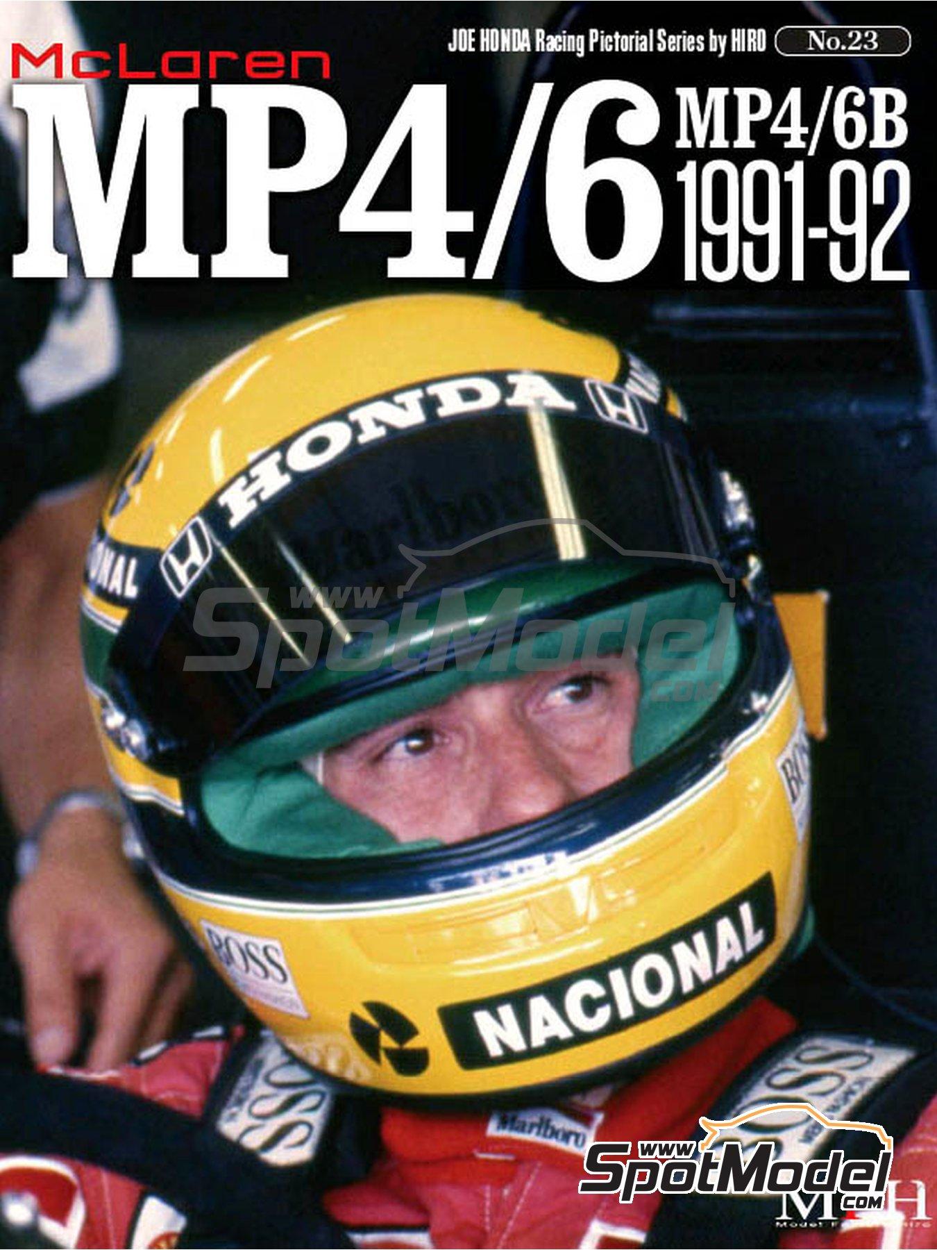 JOE HONDA Racing Pictorial Series - Mc Laren MP4/6B - MP4/6 -  1991 y 1992 | Libro de referencia fabricado por Model Factory Hiro (ref.MFH-JH23) image