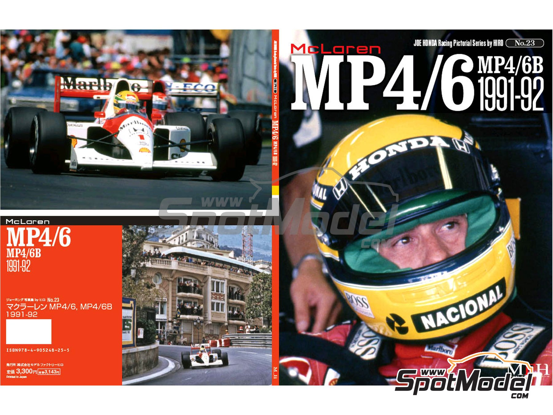 Image 1: JOE HONDA Racing Pictorial Series - Mc Laren MP4/6B - MP4/6 -  1991 y 1992 | Libro de referencia fabricado por Model Factory Hiro (ref. MFH-JH23)