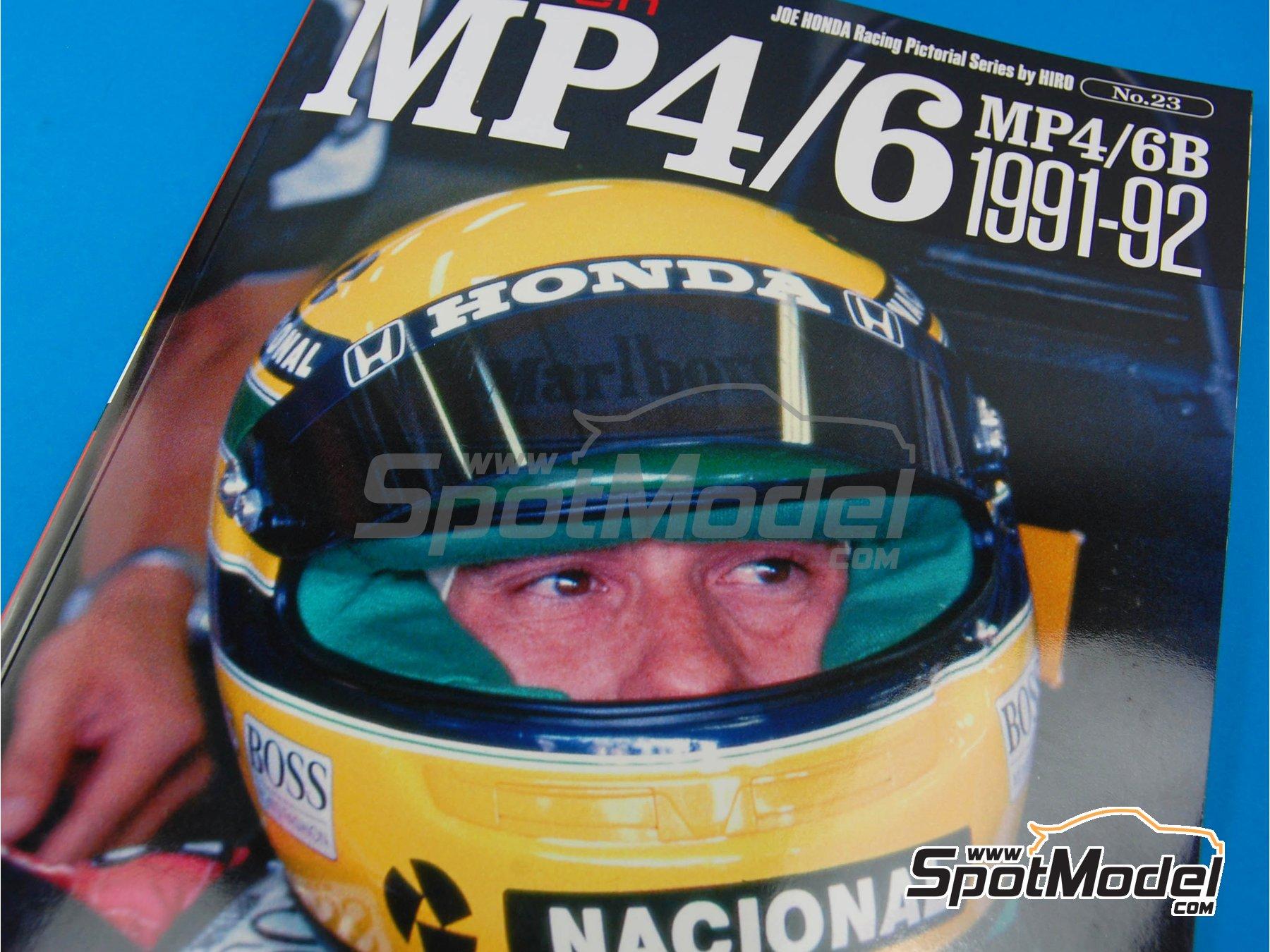 Image 2: JOE HONDA Racing Pictorial Series - Mc Laren MP4/6B - MP4/6 -  1991 y 1992 | Libro de referencia fabricado por Model Factory Hiro (ref.MFH-JH23)