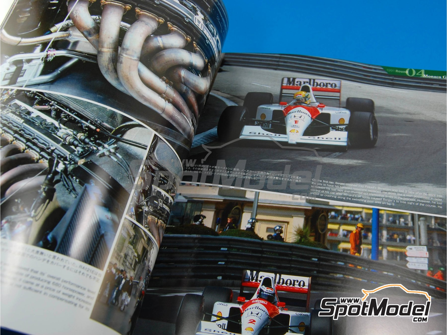 Image 3: JOE HONDA Racing Pictorial Series - Mc Laren MP4/6B - MP4/6 -  1991 y 1992 | Libro de referencia fabricado por Model Factory Hiro (ref. MFH-JH23)
