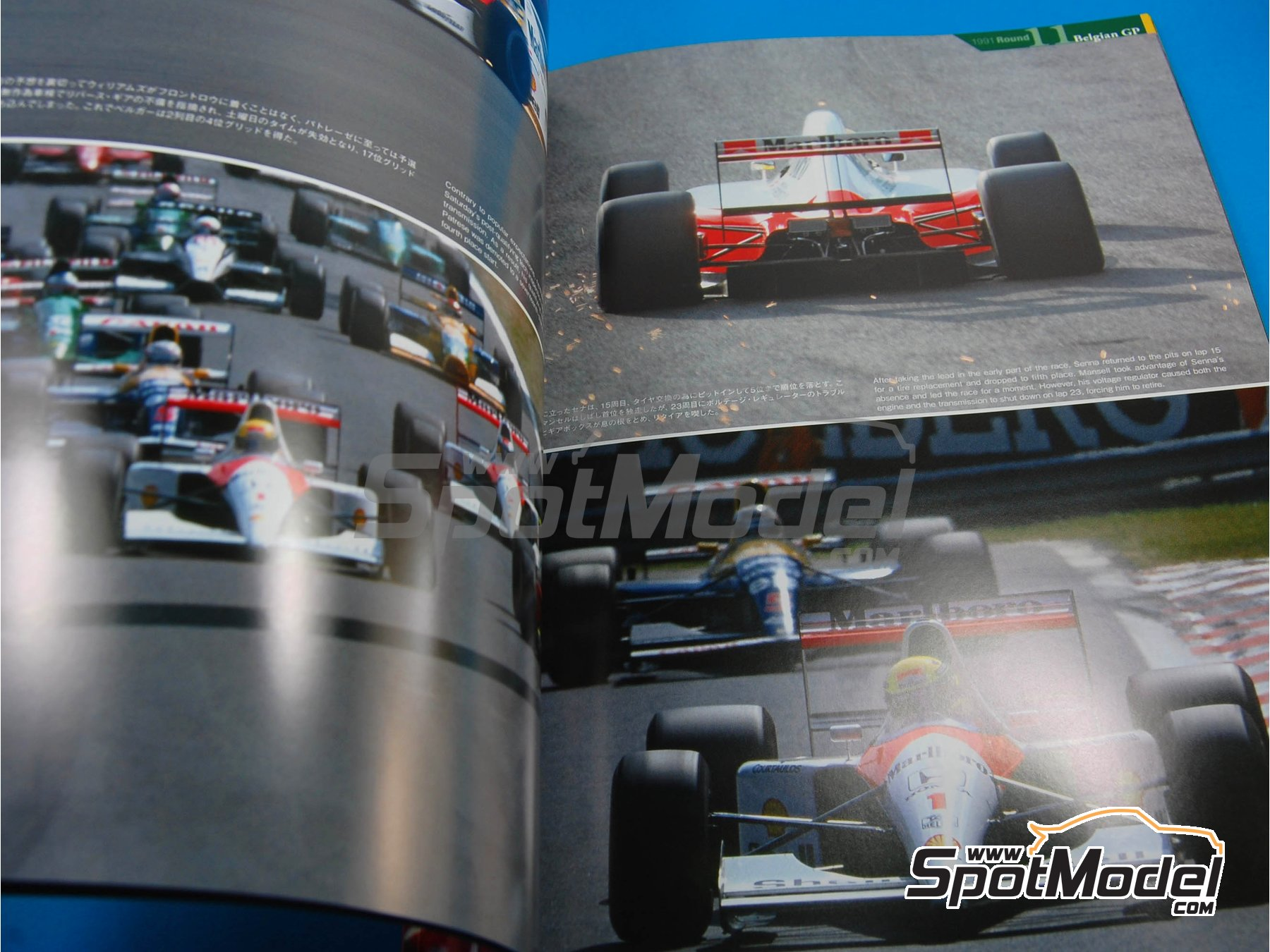 Image 5: JOE HONDA Racing Pictorial Series - Mc Laren MP4/6B - MP4/6 -  1991 y 1992 | Libro de referencia fabricado por Model Factory Hiro (ref. MFH-JH23)