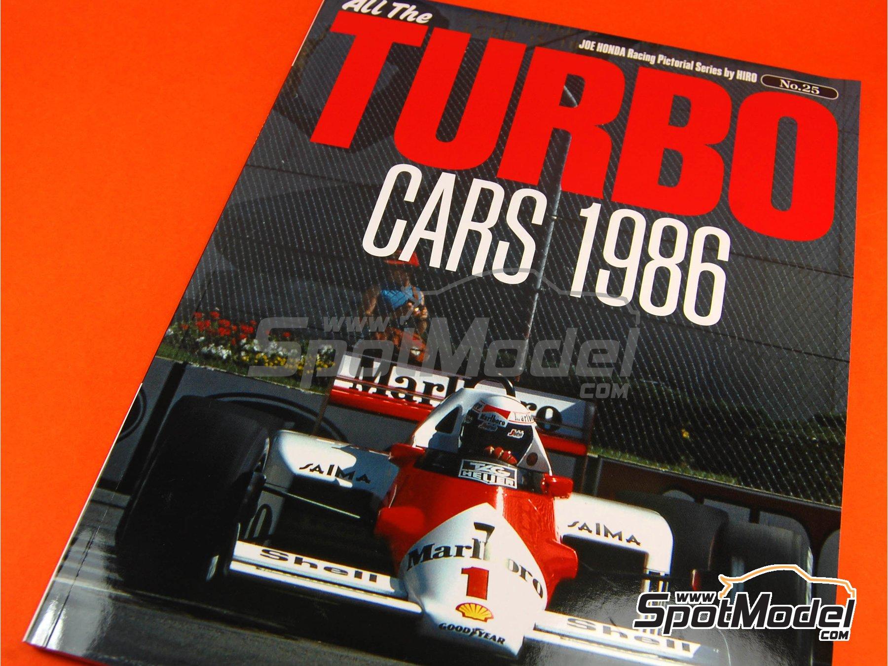 Image 1: JOE HONDA Racing Pictorial Series - All The TURBO CARS -  1986 | Libro de referencia fabricado por Model Factory Hiro (ref.MFH-JH25)