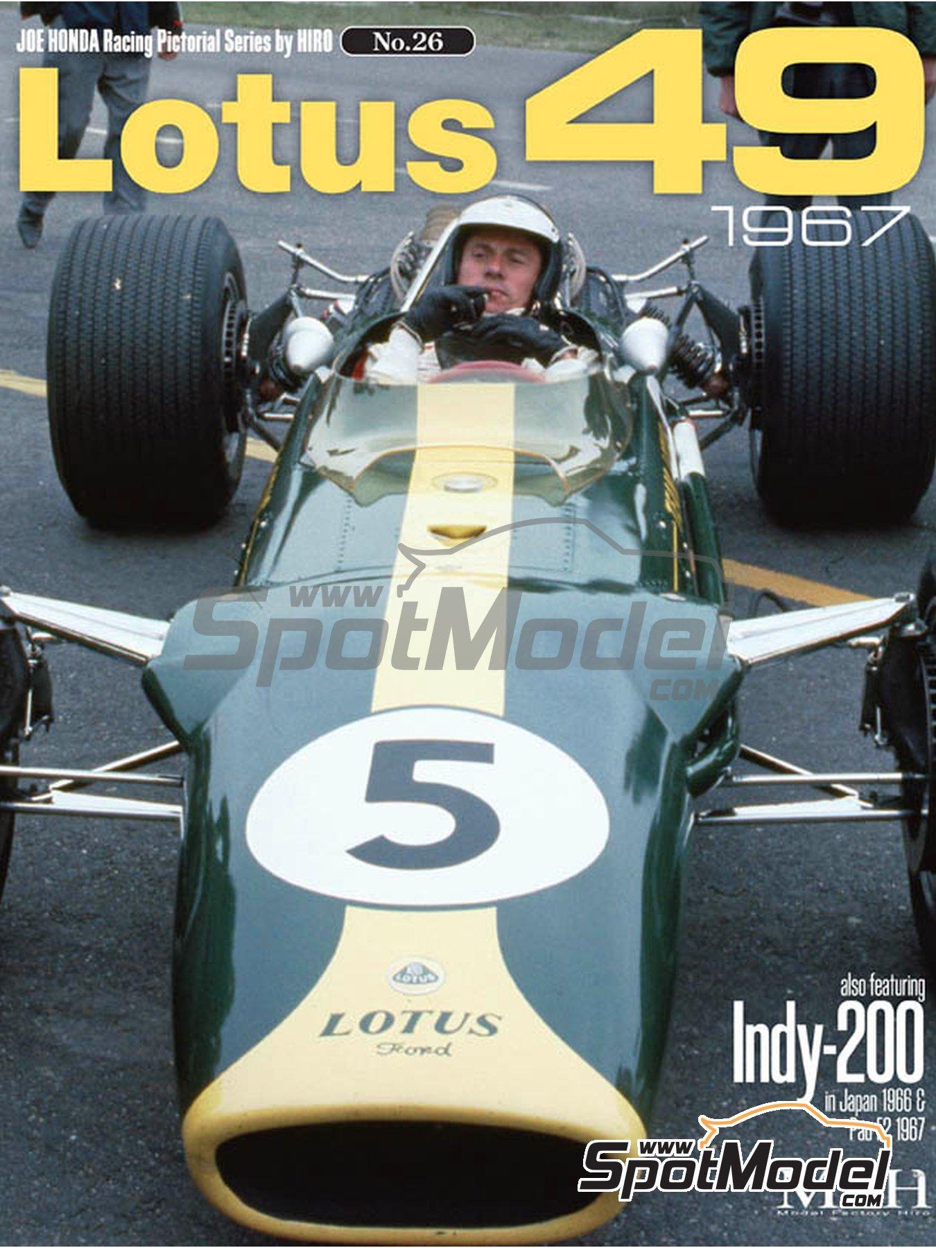 JOE HONDA Racing Pictorial Series - Lotus 49 - Campeonato del Mundo de Formula1 1967 | Libro de referencia fabricado por Model Factory Hiro (ref.MFH-JH26) image