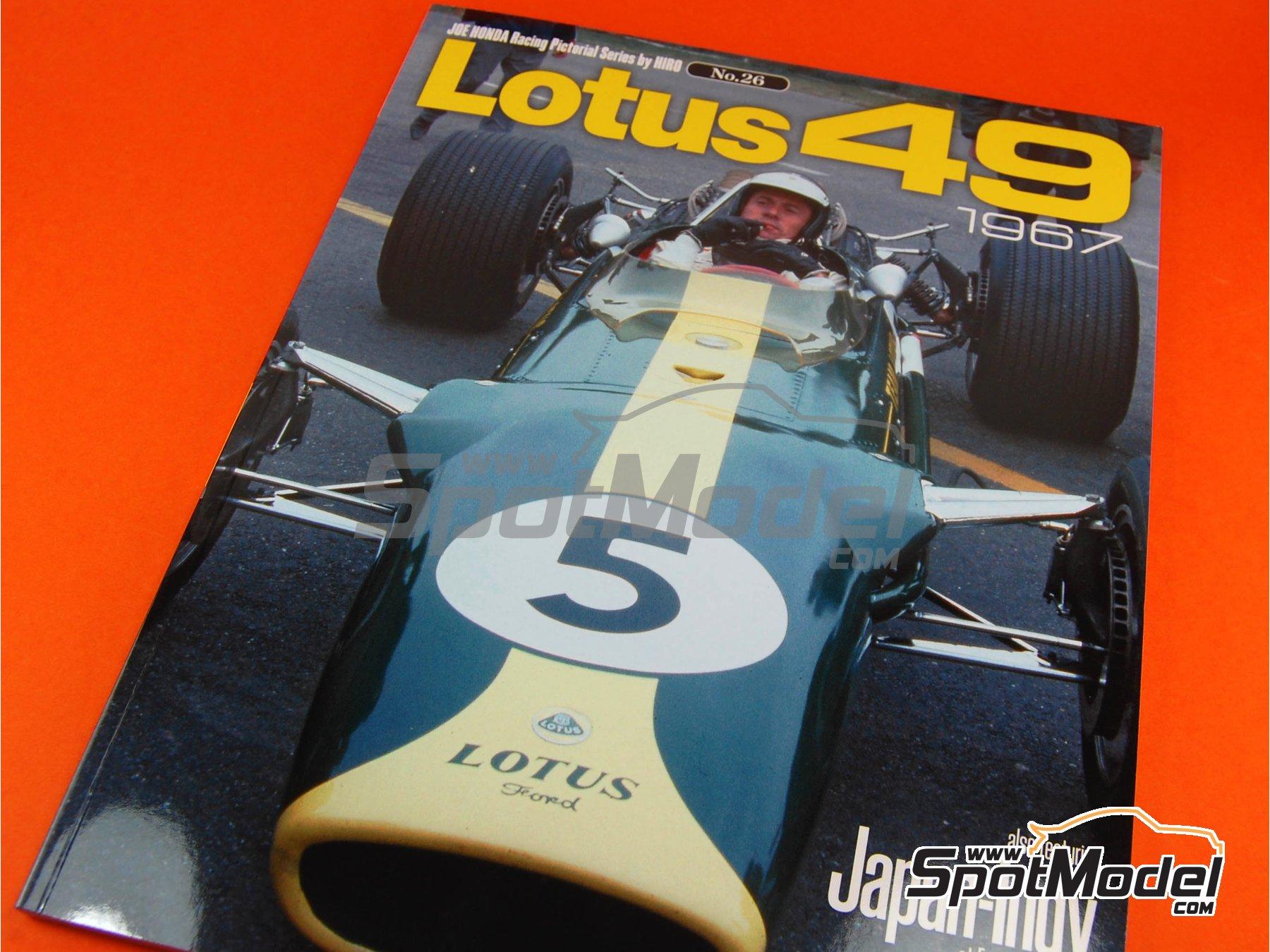 Image 1: JOE HONDA Racing Pictorial Series - Lotus 49 - Campeonato del Mundo de Formula1 1967 | Libro de referencia fabricado por Model Factory Hiro (ref.MFH-JH26)