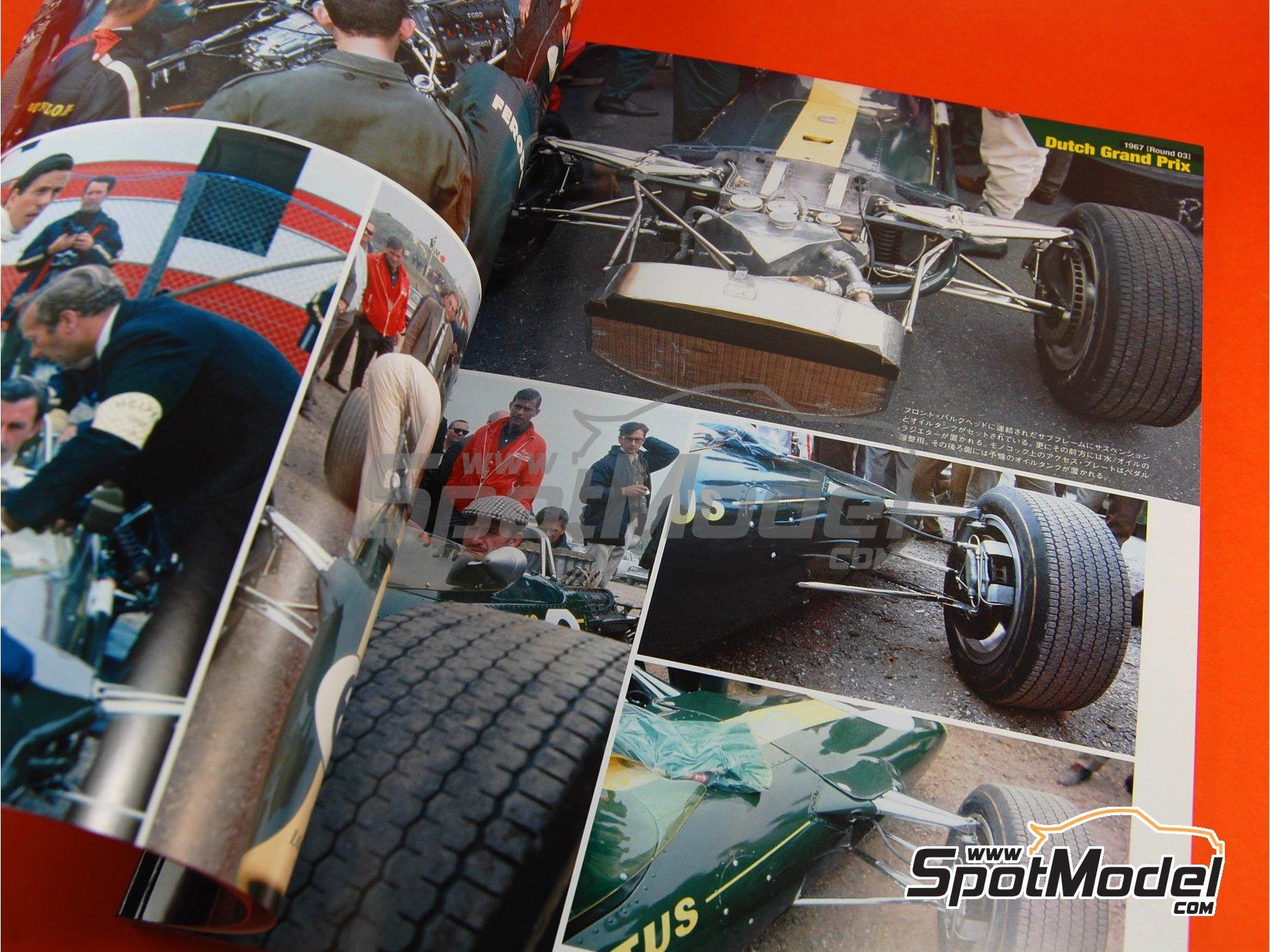 Image 2: JOE HONDA Racing Pictorial Series - Lotus 49 - Campeonato del Mundo de Formula1 1967 | Libro de referencia fabricado por Model Factory Hiro (ref.MFH-JH26)