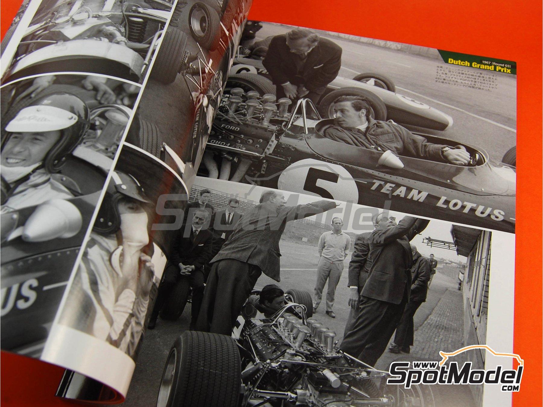 Image 4: JOE HONDA Racing Pictorial Series - Lotus 49 - Campeonato del Mundo de Formula1 1967 | Libro de referencia fabricado por Model Factory Hiro (ref.MFH-JH26)