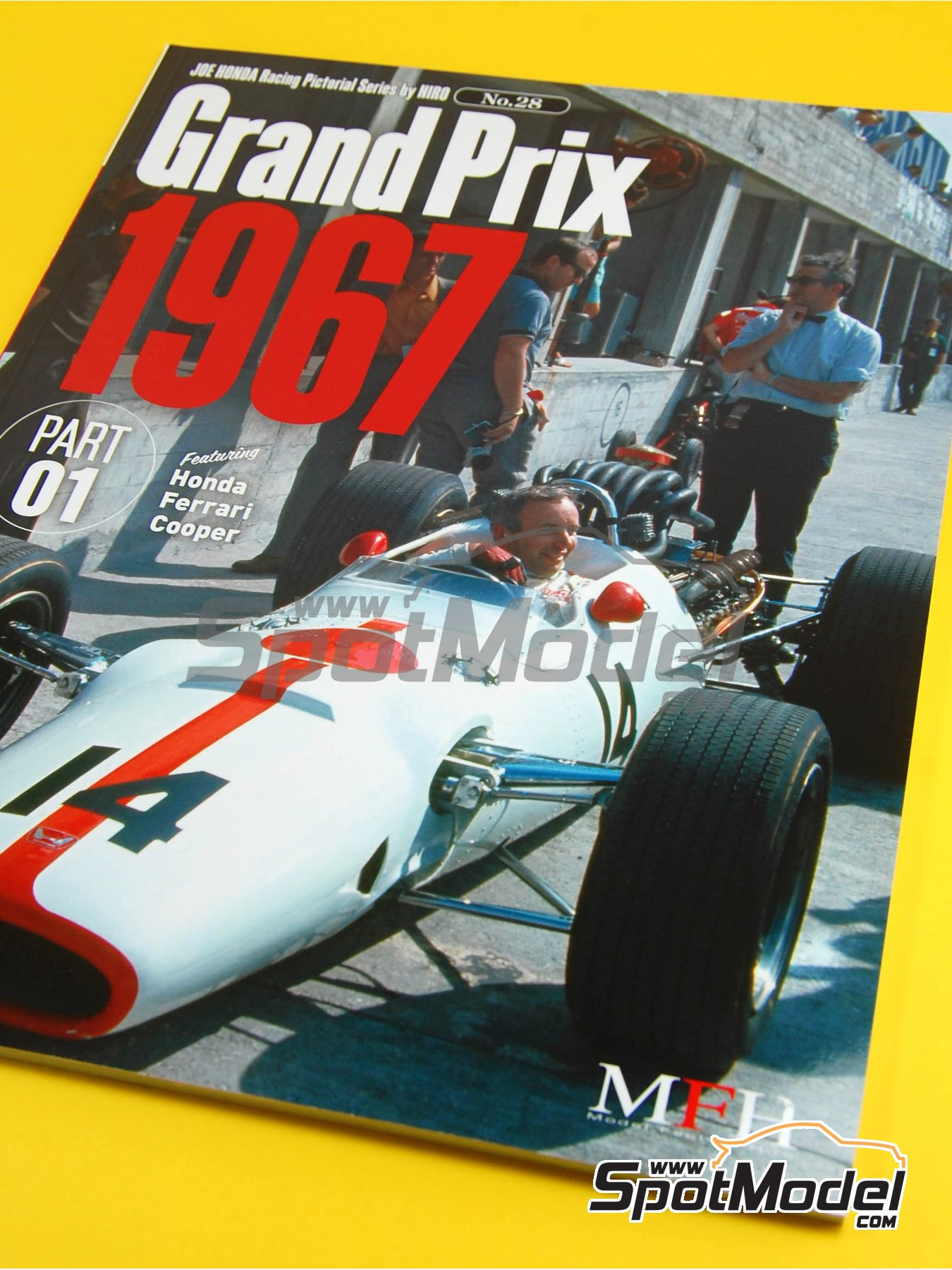 JOE HONDA Racing Pictorial Series - Grand Prix Cars - Primer volumen -  1967   Libro de referencia fabricado por Model Factory Hiro (ref.MFH-JH28) image