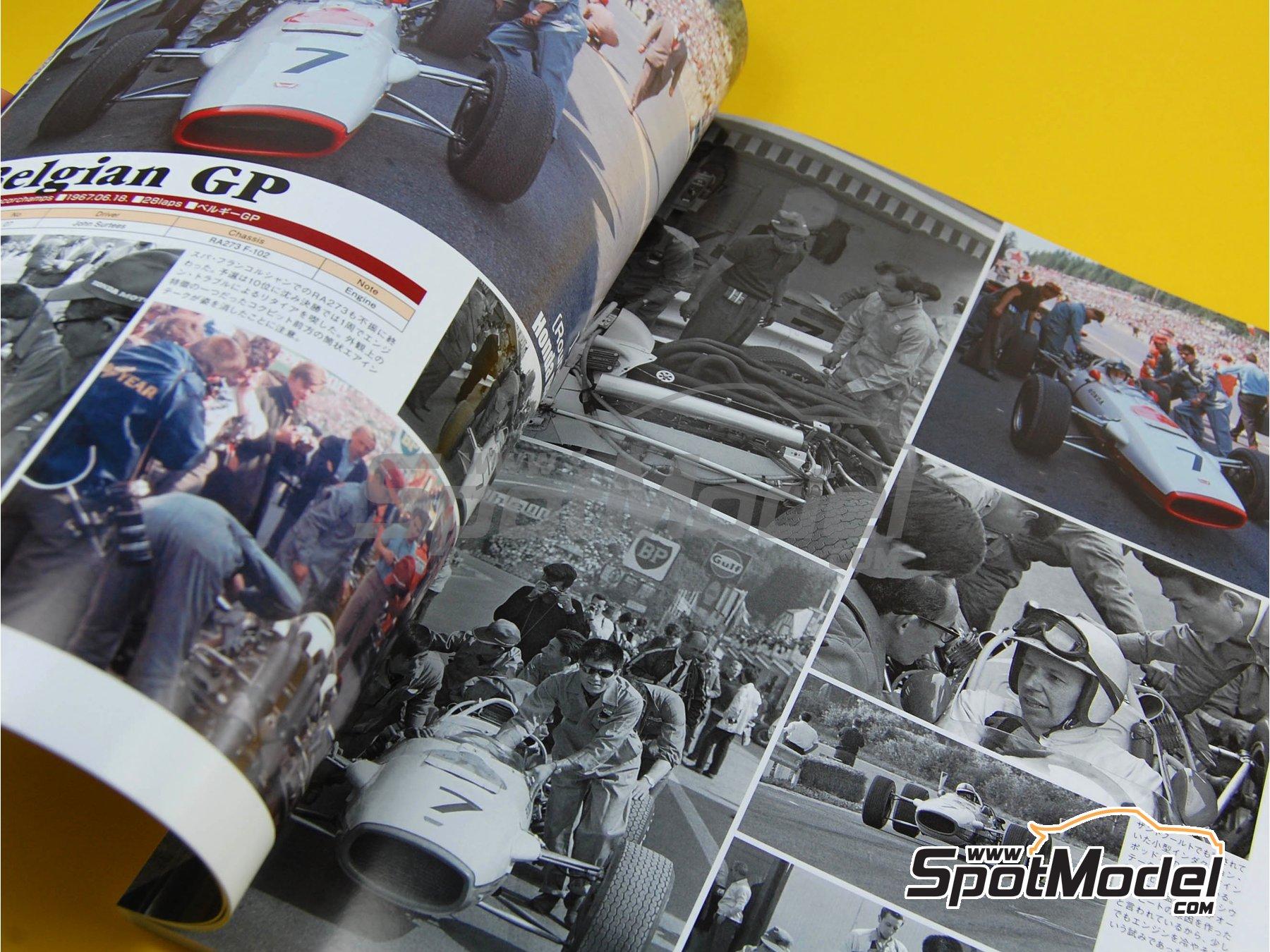 Image 3: JOE HONDA Racing Pictorial Series - Grand Prix Cars - Primer volumen -  1967   Libro de referencia fabricado por Model Factory Hiro (ref.MFH-JH28)