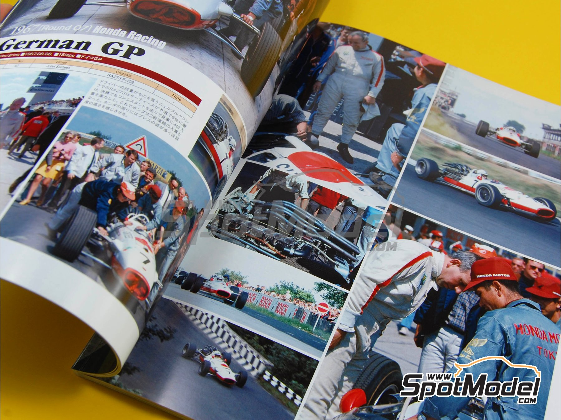 Image 4: JOE HONDA Racing Pictorial Series - Grand Prix Cars - Primer volumen -  1967   Libro de referencia fabricado por Model Factory Hiro (ref.MFH-JH28)