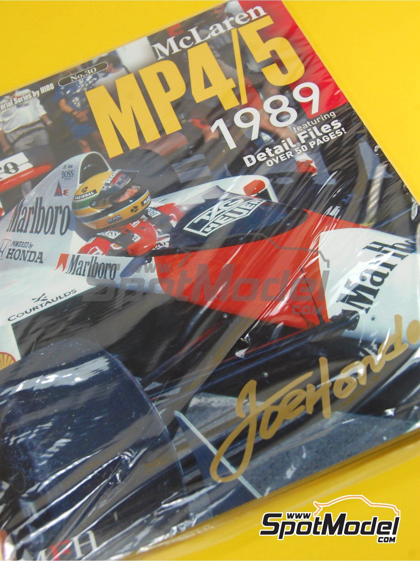 JOE HONDA Racing Pictorial Series - McLaren MP4/5 - FIA Formula 1 World Championship 1989 | Reference / walkaround book manufactured by Model Factory Hiro (ref.MFH-JH30) image