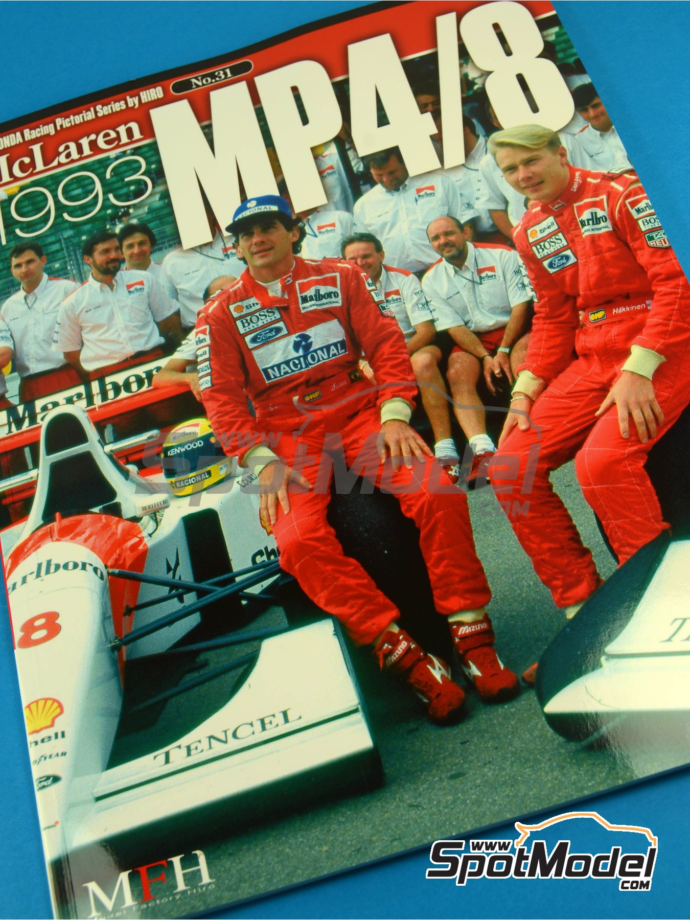 JOE HONDA Racing Pictorial Series - MP4/8 - Campeonato del Mundo de Formula1 1993 | Libro de referencia fabricado por Model Factory Hiro (ref.MFH-JH31) image