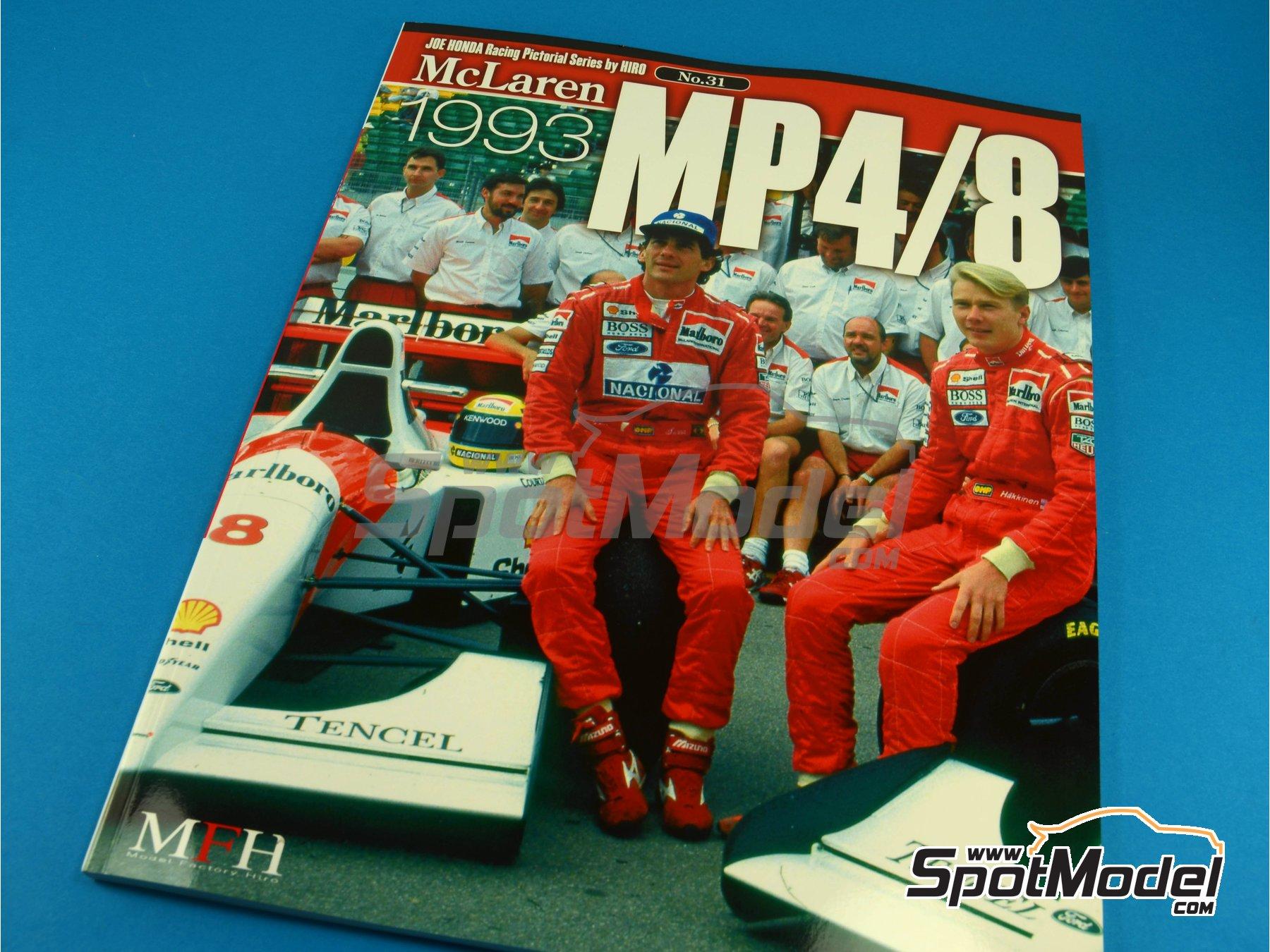Image 1: JOE HONDA Racing Pictorial Series - MP4/8 - Campeonato del Mundo de Formula1 1993 | Libro de referencia fabricado por Model Factory Hiro (ref.MFH-JH31)